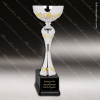Cup Trophy Economy Silver Gold Accented Metal Loving Cup Award Silver Cup Trophy Awards