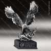 Premium Resin Silver American Eagle Flag Trophy Award Silver Eagle Sculpture Trophy Awards