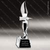 Premium Cast Eagle Fly Free Crystal Base Trophy Award Silver Eagle Sculpture Trophy Awards