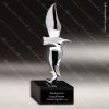 Premium Cast Simple Eagle Square Trophy Award Silver Eagle Sculpture Trophy Awards