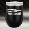Engraved Stainless Steel 12 Oz. Stemless Wine Glass Black Double Insulated Stainless 12 Oz. Stemless Wine Glasses