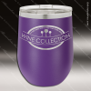 Engraved Stainless Steel 12 Oz. Stemless Wine Glass Purple Double Insulated Stainless 12 Oz. Stemless Wine Glasses