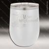 Engraved Stainless Steel 12 Oz. Stemless Wine Glass White Double Insulated Stainless 12 Oz. Stemless Wine Glasses