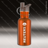 Engraved Stainless Steel 17 Oz. or 25 Oz. Water Bottle Orange Laser Etched Stainless 17 Oz. or 25 Oz. Water Bottles