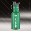 Engraved Stainless Steel 17 Oz. or 25 Oz. Water Bottle Green Laser Etched G Stainless 17 Oz. or 25 Oz. Water Bottles
