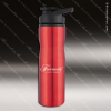 Engraved Stainless Steel 25 Oz. Water Bottle Red Laser Etched Gift Stainless 25 Oz. Water Bottles