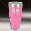 Engraved Stainless Steel 30 Oz. Ringneck Travel Mug Pink Etched Gift Stainless 30 Oz. Ringneck Travel Mugs