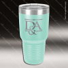 Engraved Stainless Steel 30 Oz. Ringneck Travel Mug Teal Etched Gift Stainless 30 Oz. Ringneck Travel Mugs