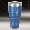 Engraved Stainless Steel 30 Oz. Ringneck Travel Mug Royal Blue Etched Gift Stainless 30 Oz. Ringneck Travel Mugs