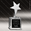 Crystal  Silver Star Trophy Award Star Shaped Crystal Awards
