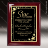 Engraved Rosewood Plaque Black Plate Gold Star Border Wall Placard Award Star Themed Plaques