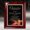 Engraved Rosewood Plaque Black Plate Gold Red Star Border Wall Placard Awar Star Themed Plaques