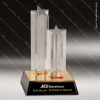 Acrylic Gold Accented Standing Star Columns Award Star Trophy Awards