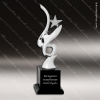 Cast Metal Black Accented Silver Art Star Star Trophy Awards