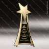 Cast Gold Accented Star Tower Free Standing Trophy Award Star Trophy Awards