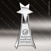 Cast Silver Accented Star Tower Free Standing Trophy Award Star Trophy Awards