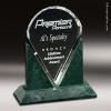 Crystal Green Marble Accented Valdez Trophy Award Stone Awards