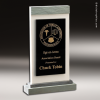 Crystal Black Accented Coos Bay Trophy Award Stone Awards