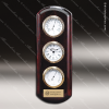 Corporate Rosewood Plaque Wall Clock Instruments Placard Award Wall Clock Plaques