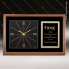 Corporate Walnut Plaque Wall Clock Black Face & Plate Placard Award Wall Clock Plaques