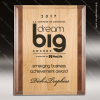Engraved Red Alder & Walnut Plaque Laser Etched Wall Placard Award Walnut Finish Plaques