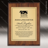 Engraved Walnut Finish Plaque  Gold Plate - Style 1 Walnut Finish Plaques
