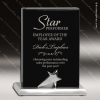 Black Piano Finish Standing Star Recognition Plaque Wood Awards