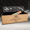Engraved Etched Cork Wine Tool Set Light Brown Presentation Box Gift Wood Wine Boxes & Tool Sets