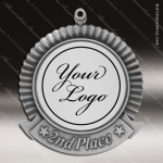 Medallion Semi Custom Series Medal - 2nd Place Insert Your Logo Medal 1st 2nd 3rd Place Medals