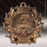 Medallion Ten Star Series 3rd Place Medal 1st 2nd 3rd Place Medals
