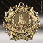 Medallion Ten Star Series Participant Medal 1st 2nd 3rd Place Medals