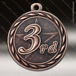 Medallion Sculpted Series 3rd Place Medal 1st 2nd 3rd Place Medals
