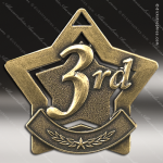 Medallion Star Series 3rd Place Medal Star Bronze 1st 2nd 3rd Place Medals