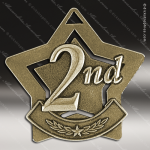 Medallion Star Series 2nd Place Medal Star Silver 1st 2nd 3rd Place Medals