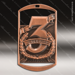 Medallion Dog Tag Series 3rd Place 1st 2nd 3rd Place Medals
