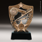 Resin Academy Shield Series Scholastic Hairdressing Trophy Award Academy Shield Resin Trophy Awards