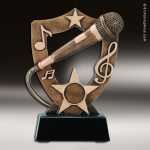 Resin Academy Shield Series Music Microphone Trophy Award Academy Shield Resin Trophy Awards