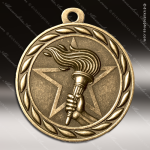 Medallion Sculpted Series Achievement Victory Torch Medal Achievement Medals
