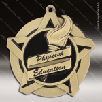 Medallion Super Star Series Scholastic Physical Education Medal Achievement Medals