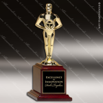 Classic Achiever Figure on Rosewood Piano Finish Base Achievement Trophy Awards