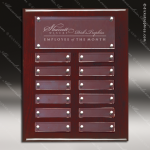 The Tagala Rosewood Perpetual Plaque  12 Floating Acrylic Plates Acrylic & Glass Perpetual Plaques