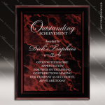 Engraved Acrylic Plaque Red Marble Wall Placard Award Acrylic Plaque Awards