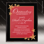 Engraved Acrylic Plaque Red Burgundy Star Recognition Wall Placard Award Acrylic Plaque Awards