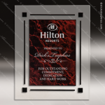 Engraved Acrylic Plaque Red Marble Recognition Wall Placard Award Acrylic Plaque Awards