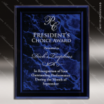 Engraved Acrylic Plaque Purple Marble Recognition Wall Placard Award Acrylic Plaque Awards