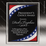 Engraved Acrylic Plaque Patriotic Red, White, Blue Wall Placard Award Acrylic Plaque Awards