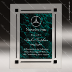 Engraved Acrylic Plaque Green Marble Recognition Award Acrylic Plaque Awards