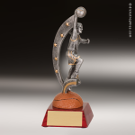 Resin Action Star Series Basketball Trophy Award - Female Action Star Resin Trophy Awards