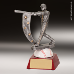 Resin Action Star Series Baseball Trophy Award - Male Action Star Resin Trophy Awards