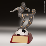 Resin Action Star Series Soccer Trophy Award - Male Action Star Resin Trophy Awards